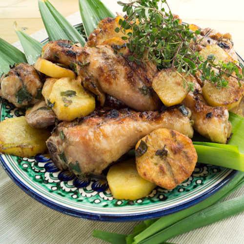 cosce-di-pollo-con-patate