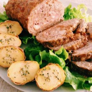 polpettone-di-carne-con-melanzane-crocchette-di-patate